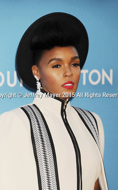 LOS ANGELES, CA - MAY 30: Singer/songwriter Janelle Monae  arrives at the 2015 MOCA Gala presented by Louis Vuitton at The Geffen Contemporary at MOCA on May 30, 2015 in Los Angeles, California.
