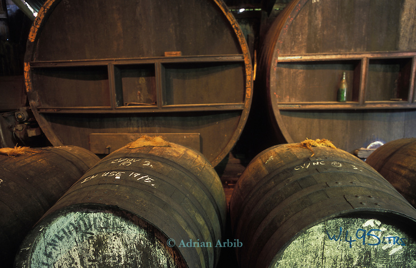 Burrow Hill cider, Oak barrels give added flavour to  the Cider Brandy. Somerset.