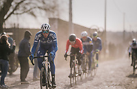 Niki Terpstra (NED/Quick-Step Floors)<br /> <br /> 50th GP Samyn 2018<br /> Quaregnon &gt; Dour: 200km (BELGIUM)