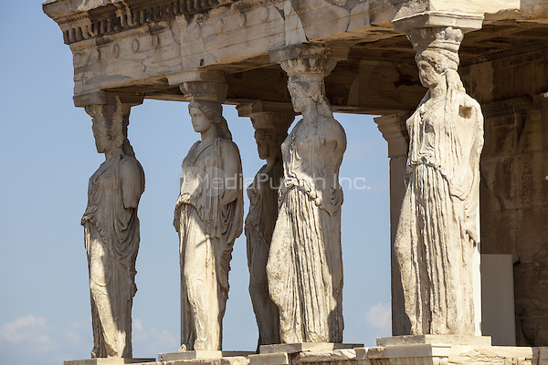 The Caryatids in the Erechtheion, at the Acropolis, Athens, Greece <br /> CAP/MEL<br /> &copy;MEL/Capital Pictures /MediaPunch ***NORTH AND SOUTH AMERICA ONLY***