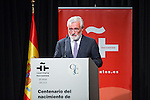 Spanish president of the real academy of the languaje Dario Villanueva during the commemorating event  of the centenary of the birth of Camilo Jose Cela at Cervantes institute in Madrid. September 07, 2016. (ALTERPHOTOS/Rodrigo Jimenez)