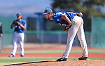 Wildcats' Connor Zwetsch pitches against College of Southern Idaho at Western Nevada College in Carson City, Nev., on Thursday, Feb. 26, 2015. <br /> Photo by Cathleen Allison/Nevada Photo Source