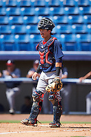 Atlanta Braves catcher Brett Cumberland (71) during an Instructional League game against the Washington Nationals on September 30, 2016 at Space Coast Stadium in Melbourne, Florida.  (Mike Janes/Four Seam Images)