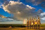 Karo tribesmen, Omo River Valley, Ethiopia