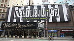 """Theatre Marquee unveiling for """"Beetlejuice"""" at the Winter Garden Theatre on February 8, 2019 in New York City."""
