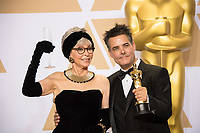 Rita Moreno and Sebasti&aacute;n Lelio, winner of the Oscar&reg; for Best foreign language film of the year during the live ABC Telecast of The 90th Oscars&reg; at the Dolby&reg; Theatre in Hollywood, CA on Sunday, March 4, 2018.<br /> *Editorial Use Only*<br /> CAP/PLF/AMPAS<br /> Supplied by Capital Pictures