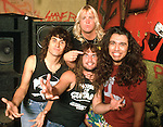 Slayer 1986 Dave Lombardo, Jeff Hanneman, Kerry King and Tom Araya