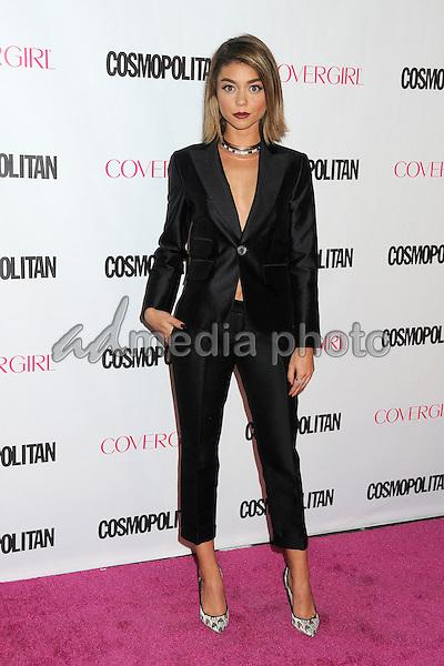 12 October 2015 - Hollywood, California - Sarah Hyland. Cosmopolitan 50th Birthday Celebration held at Ysabel. Photo Credit: Byron Purvis/AdMedia