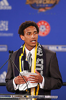 Los Angeles Galaxy first pick and fourth overall Sean Franklin during the MLS SuperDraft at the Baltimore Convention Center in Baltimore, MD, on January 18, 2008.