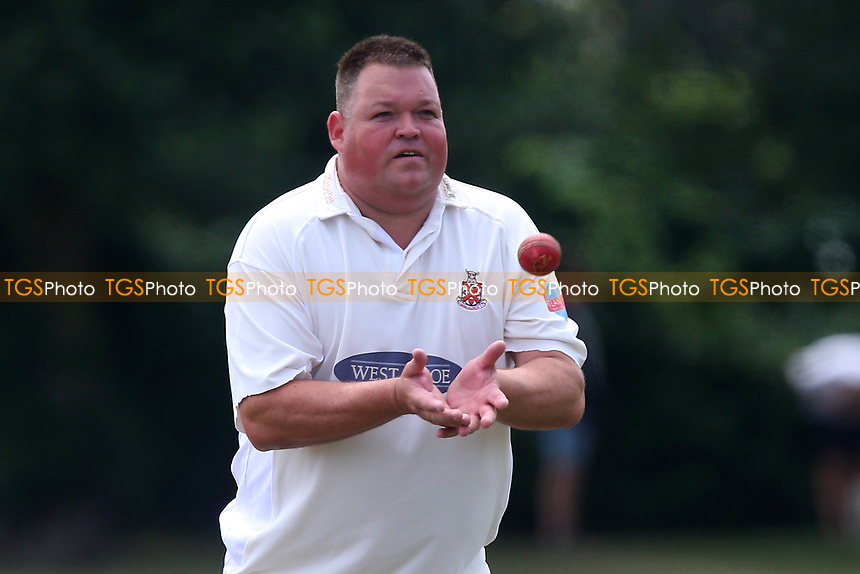 M Whitlock of Hornchurch during Upminster CC vs Hornchurch CC, Shepherd Neame Essex League Cricket at Upminster Park on 8th July 2017