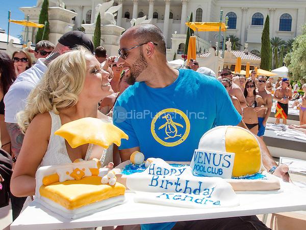 Kendra Wilkinson-Baskett and Hank Baskett pictured as Kendra Wilkinson-Baskett celebrates her 26th birthday at VENUS POOL CLUB at Caesars Palace in Las Vegas, NV on June 11, 2011. © Erik Kabik / MediaPunch.***HOUSE COVERAGE***