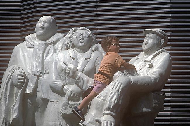 Public Artwork, Les Halles Shopping Area, Paris, France