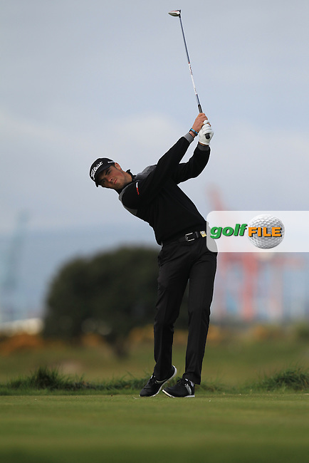 Pierre Verlaar (NED) on the 3rd tee during Round 1 of the Flogas Irish Amateur Open Championship at Royal Dublin on Thursday 5th May 2016.<br /> Picture:  Thos Caffrey / www.golffile.ie