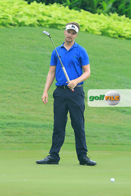 Rikard Karlberg (SWE) on the 4th during Round 3 of the CIMB Classic in the Kuala Lumpur Golf &amp; Country Club on Saturday 1st November 2014.<br /> Picture:  Thos Caffrey / www.golffile.ie