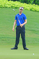 Rikard Karlberg (SWE) on the 4th during Round 3 of the CIMB Classic in the Kuala Lumpur Golf & Country Club on Saturday 1st November 2014.<br /> Picture:  Thos Caffrey / www.golffile.ie