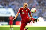 Duitsland, Gelsenkirchen, 22 september  2012.Seizoen 2012/2013.Bundesliga.Schalke 04-Bayern Munchen 0-2.Arjen Robben van Bayern Munchen in actie met de bal..