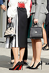 Queen Letizia of Spain and Queen Rania of Jordan, detail of bags and shoes, visit the 'Severo Ochoa' Molecular Biology Centre at the Universidad Autonoma of Madrid. November 18, 2015. (ALTERPHOTOS/Acero)