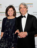 Sam Waterston and his wife, Lynn Louisa Woodruff, arrive for the formal Artist's Dinner honoring the recipients of the 2011 Kennedy Center Honors hosted by United States Secretary of State Hillary Rodham Clinton at the U.S. Department of State in Washington, D.C. on Saturday, December 3, 2011. The 2011 honorees are actress Meryl Streep, singer Neil Diamond, actress Barbara Cook, musician Yo-Yo Ma, and musician Sonny Rollins..Credit: Ron Sachs / CNP