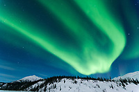 Aurora borealis over the Koyukuk River basin in the Brooks Range, Alaska