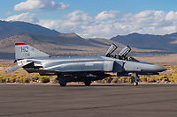 An F-4F Phantom of the 20th FS based at Hollomon AFB in New Mexico taxies on the ramp during the 2004 Reno National Championship Air Races at Stead Field in Nevada.