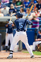 Austin Schotts (5) of the West Michigan Whitecaps at bat against the Quad Cities River Bandits at Fifth Third Ballpark on May 5, 2013 in Comstock Park, Michigan.  The River Bandits defeated the Whitecaps 5-4.  (Brian Westerholt/Four Seam Images)