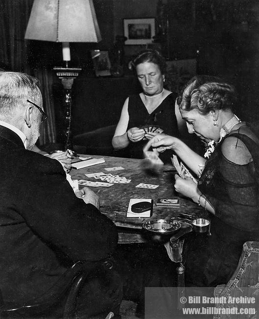 After dinner bridge, Kensington 1930s