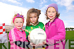 Maeve Breen, Leah Kelliher and Caelan Kalou enjoying the Kerry County Board 'Try a Club' initiative hosted by St. Pats GAA Blennervile on Sunday