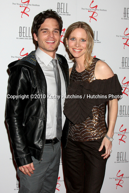 Greg Rikaart & Lauralee Bell.arrivng at The Young & The Restless 37th Anniversary Dinner.Via Allorro.Beverly Hills, CA.March 9, 2010.©2010 Kathy Hutchins / Hutchins Photo....