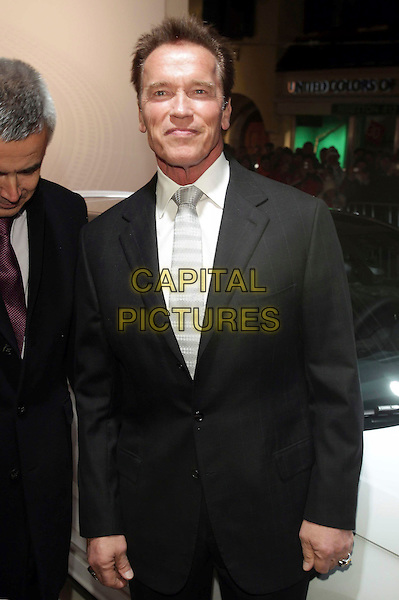 Arnold Schwarzenegger.Audi Night, Hahnenkamm Rennen, Hotel Zur Tenne, Kitzbuehel, Austria, .20th January 2012..half length black suit white shirt tie Arnie .CAP/PPG.©Jens Hartmann/People Picture/Capital Pictures