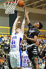 Alex Sorensen #44 of South Side, left, and KC Ndefo #4 of Elmont battle for a rebound during the Nassau County varsity boys basketball Class A final at LIU Post on Saturday, Feb. 27, 2016. The teams went to halftime tied 22-22.