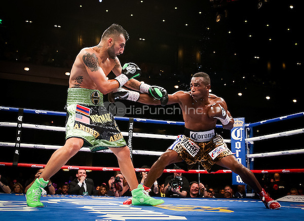 LAS VEGAS, NV - May 21, 2016: ***HOUSE COVERAGE*** Erislandy Lara vs Vanes Martirosyan  pictured at Showtime Championship Boxing event at The Chelsea at The Cosmopolitan of Las Vegas in Las vegas, NV on May 21, 2016. Credit: Erik Kabik Photography/ MediaPunch