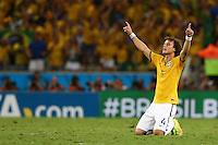 David Luiz of Brazil celebrates on the final whistle