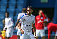 Jay DaSilva (Chelsea) of England U19 smiles during the International match between England U19 and Netherlands U19 at New Bucks Head, Telford, England on 1 September 2016. Photo by Andy Rowland.