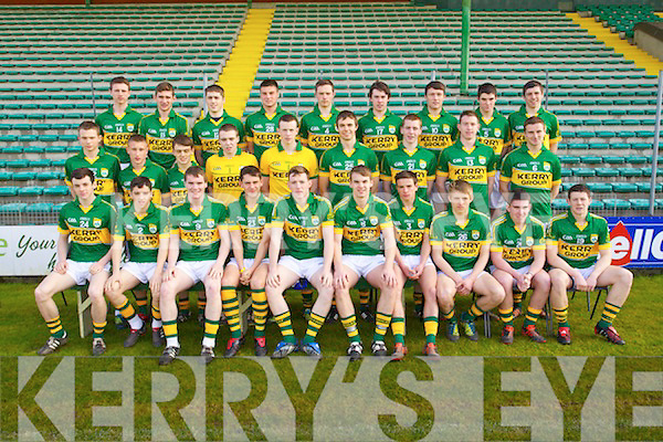 The Kerry Minor Squad 2013.Front l-r: Cian Sayers (Kerins O'Rahilly's) Tony Brosnan (Dr Crokes) Greg Horan (Austin Stacks) Jack Savage (Kerins O'Rahillys) Conor Keane (Killarney Legion) Shane O'Connor (John Mitchel's) Michéal Burns (Dr Crokes) Killian Spillane (Templenoe) Conor O'Shea (St Mary's) and Joe O'Kelly (Austin Stacks). Middle l-r: John Rice (Templenoe) Brian Sugrue (Renard) Matthew Flaherty (Dingle) Darragh O'Shea (Ballydonoghue) Shane Ryan (Rathmore) Kevin Shanahan (Ardfert) Barry O'Sullivan (Dingle) Kieran Murphy (Glenflesk) Paudie Carroll (Ardfert) . Back l-r: Cian O'Connor (Castleisland Desmonds) Eanna O Conchuir (An Ghaeltacht) Cathal O Luing (An Ghaeltacht) Brian Wall (Beale) Fionan Clifford (Waterville) Padraig O Conchuir (Dingle) Conor Jordan (Austin Stacks), Sean T. Dillon (St. Senans) David Foran (St. Senans) .