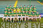 The Kerry Minor Squad 2013.Front l-r: Cian Sayers (Kerins O'Rahilly's) Tony Brosnan (Dr Crokes) Greg Horan (Austin Stacks) Jack Savage (Kerins O'Rahillys) Conor Keane (Killarney Legion) Shane O'Connor (John Mitchel's) Michéal Burns (Dr Crokes) Killian Spillane (Templenoe) Conor O'Shea (St Mary's) and Joe O'Kelly (Austin Stacks). Middle l-r: John Rice (Templenoe) Brian Sugrue (Renard) Matthew Flaherty (Dingle) Darragh O'Shea (Ballydonoghue) Shane Ryan (Rathmore) Kevin Shanahan (Ardfert) Barry O'Sullivan (Dingle) Kieran Murphy (Glenflesk) Paudie Carroll (Ardfert) . Back l-r: Cian O'Connor (Castleisland Desmonds) Eanna O Conchuir (An Ghaeltacht) Cathal O Luing (An Ghaeltacht) Brian Wall (Beale) Fionan Clifford (Waterville) Padraig O Conchuir (Dingle) Conor Jordan (Austin Stacks), Sean T. Dillon (St. Senans) David Foran (St. Senans) .