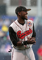 Nashville Sounds outfielder Tony Gwynn Jr during introductions before the Triple-A All-Star Game at Fifth Third Field on July 12, 2006 in Toledo, Ohio.  (Mike Janes/Four Seam Images)