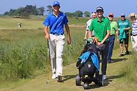 Christo Lamprecht (RSA) and Tiernan McLarnon (Masereene) walking off the 10th tee during Round 4 of the East of Ireland Amateur Open Championship 2018 at Co. Louth Golf Club, Baltray, Co. Louth on Monday 4th June 2018.<br /> Picture:  Thos Caffrey / Golffile<br /> <br /> All photo usage must carry mandatory copyright credit (&copy; Golffile | Thos Caffrey)