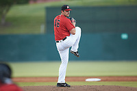 Chicago White Sox pitcher Carlos Rodon (16) makes a rehab start for the Kannapolis Intimidators against the Hickory Crawdads at Kannapolis Intimidators Stadium on May 19, 2018 in Kannapolis, North Carolina.  (Brian Westerholt/Four Seam Images)