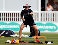 Allan Donald takes training during the County Championship Division 2 game between Kent and Leicestershire at the St Lawrence ground, Canterbury, on Sun July 22, 2018