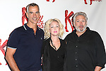 Director Jerry Mitchell, Cyndi Lauper (Music) & Harvey Fierstein (Book)  attending the Meet & Greet the Cast & Creative Team of the New Broadway Musical 'Kinky Boots' at the New 42nd Street Studios in New York City on September 14, 2012.
