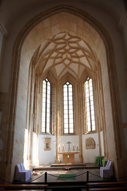 Gothic church of Siklos castle ( siklosi var) near Villany, Hungary