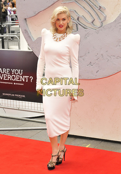 LONDON, ENGLAND - MARCH 30: Ashley Roberts attends the &quot;Divergent&quot; UK film premiere, Odeon Leicester Square cinema, Leicester Square, on Sunday March 30, 2014 in London, England, UK.<br /> CAP/CAN<br /> &copy;Can Nguyen/Capital Pictures