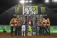 SX 2 / series winers podium<br /> 2018 SX Open - Sydney <br /> Australian Supercross Championships<br /> Qudos Bank Area / Sydney Aus<br /> Saturday Nov 10th 2018<br /> © Sport the library/ Jeff Crow / AME
