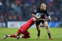 Tom Homer of Bath Rugby takes on the Toulouse defence. Heineken Champions Cup match, between Stade Toulousain and Bath Rugby on January 20, 2019 at the Stade Ernest Wallon in Toulouse, France. Photo by: Patrick Khachfe / Onside Images