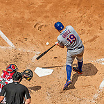30 April 2017: New York Mets outfielder Jay Bruce hits a solo home run in the 3rd inning against the Washington Nationals at Nationals Park in Washington, DC. The Nationals defeated the Mets 23-5 in the third game of their weekend series. Mandatory Credit: Ed Wolfstein Photo *** RAW (NEF) Image File Available ***