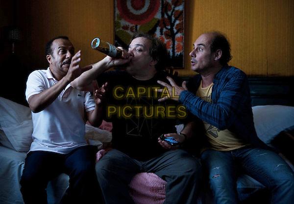 Pascal Legitimus, Didier Bourdon, Bernard Campan<br /> in Les trois freres, le retour (2014) <br /> *Filmstill - Editorial Use Only*<br /> CAP/NFS<br /> Image supplied by Capital Pictures