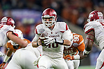 Arkansas Razorbacks quarterback Brandon Allen (10) in action during the Advocare V100 Texas Bowl game between the Arkansas Razorbacks and the Texas Longhorns at the NRG Stadium in Houston, Texas. Arkansas defeats Texas 31 to 7.