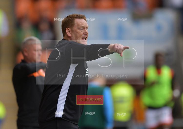 08/09/2018 Sky Bet League 1 Blackpool v Bradford City<br /> <br /> Bradford City Head Coach, David Hopkin