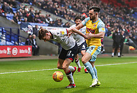 Bolton Wanderers' Joe Williams competing with Rotherham United's Richie Towell<br /> <br /> Photographer Andrew Kearns/CameraSport<br /> <br /> The EFL Sky Bet Championship - Bolton Wanderers v Rotherham United - Wednesday 26th December 2018 - University of Bolton Stadium - Bolton<br /> <br /> World Copyright &copy; 2018 CameraSport. All rights reserved. 43 Linden Ave. Countesthorpe. Leicester. England. LE8 5PG - Tel: +44 (0) 116 277 4147 - admin@camerasport.com - www.camerasport.com