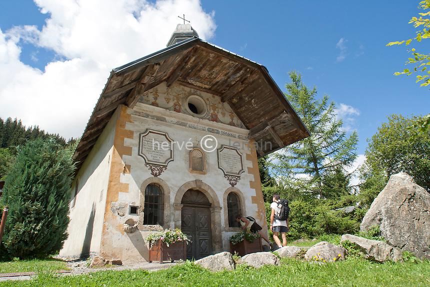 France, Haute-Savoie (74), Saint-Gervais, chapelle des Chattrix sur le sentier du baroque // France, Haute-Savoie, Saint-Gervais, chapel of Chattrix on the path of the baroque